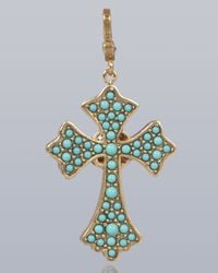 Jay Strongwater - Blue Maria Cross Pendant - Lyst