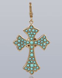Jay Strongwater | Multicolor Maria Cross Pendant | Lyst