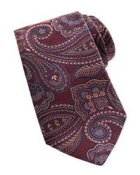 Ermenegildo Zegna | Purple Woven Tapestry Paisley Tie for Men | Lyst