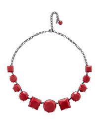 Hobbs - Red Ellie Necklace - Lyst