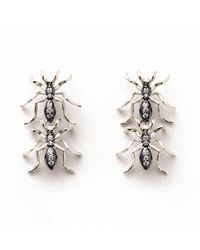 J. Herwitt | Metallic Double Ant Earrings | Lyst