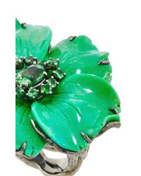 Lydia Courteille - Green One Of A Kind Amazonia Ring - Lyst