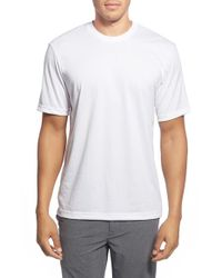 TravisMathew Red | White 'cannon' Crewneck T-shirt for Men | Lyst