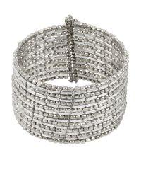 Kenneth Cole | Metallic Silvertone Seed Bead Coil Bracelet | Lyst