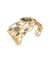 Alexis Bittar | Metallic Elements Phoenix Labradorite & Crystal Rocky Cuff Bracelet | Lyst