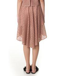 Tibi - Pink Hanae Eyelet Skirt - Lyst