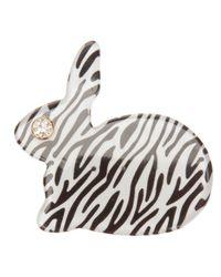 Hillier - Black Bunny Brooch - Lyst
