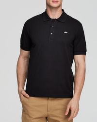 Lacoste | Black Solid Luxe Slim Fit Polo for Men | Lyst