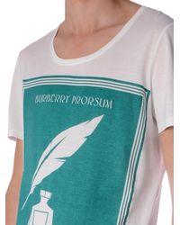 Burberry Prorsum - White Book Cover-Print T-Shirt for Men - Lyst