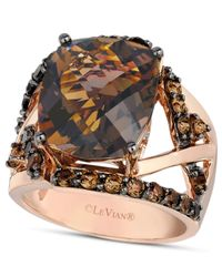 Le Vian | Pink Smokey Quartz Gladiator Ring (8-1/4 Ct. T.w.) In 14k Rose Gold | Lyst