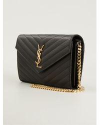 Saint Laurent - Black Monogram Cross Body Bag - Lyst