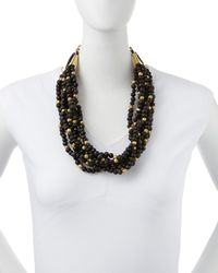 Ashley Pittman | Multicolor Mpira Dogo Dark Horn Multi-Strand Necklace | Lyst