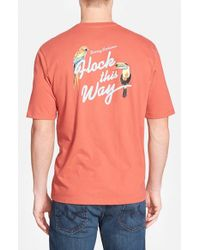 Tommy Bahama - Red 'flock This Way' Crewneck T-shirt for Men - Lyst