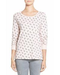 Hinge | Pink Print Pullover Sweatshirt | Lyst