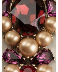 Anton Heunis - Multicolor Oval Crystal Cluster And Chain Necklace - Lyst