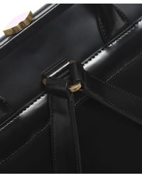 Lulu Guinness - Black Polished Leather Eva Backpack - Lyst