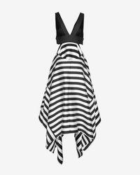 Nicholas - Black Exclusive Striped Scarf Hem Dress - Lyst