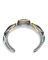 David Yurman - Metallic Viridian Cuff With Smoky Quartz, Gray Sapphires, And Gold - Lyst