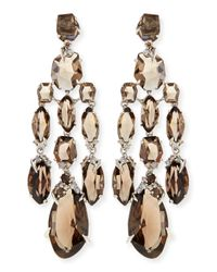 Alexis Bittar Fine | Metallic Smoky Quartz & Diamond Chandelier Earrings | Lyst