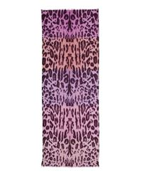Echo - Purple Tubular Animal Print Scarf - Lyst