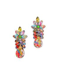 Tom Binns - Multicolor A Riot Of Color Glowinthedark Swarovski Crystal Earrings - Lyst