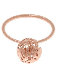Alex Monroe | Pink Medium Rose Gold-plated Peacock Feather Ring | Lyst