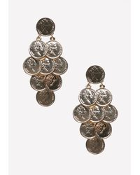 Bebe - Metallic Layered Coin Earrings - Lyst