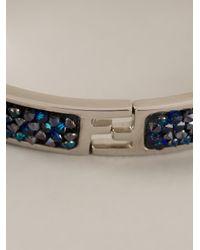 Fendi - Metallic Logo Rigid Bracelet - Lyst