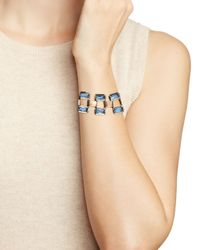 Ralph Lauren - Blue Lauren Baguette Bezel Set Bracelet - Lyst