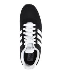 Adidas - Black & White City Racer Sneakers for Men - Lyst