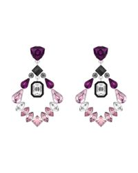 Swarovski | Multicolor Impulse Pierced Earrings | Lyst