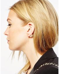 ASOS | Natural Limited Edition Shard Double Earrings | Lyst