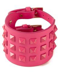 Valentino - Pink Rockstud Cuff - Lyst