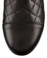Aquatalia - Black Wisdom Quilted Leather Boot - Lyst