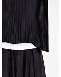 DKNY - Black Pure Pullover Shirt With Back Pleating - Lyst