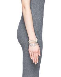 Joomi Lim | White 'rebel Romance' Crystal Pearl Bracelet | Lyst