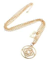 ASOS - Metallic Gathered Necklace with Geo Pendants for Men - Lyst