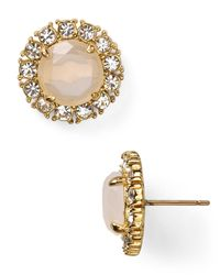 kate spade new york | Metallic Secret Garden Stud Earrings | Lyst
