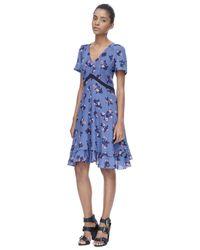 Rebecca Taylor - Blue Alyssum Print Dress - Lyst