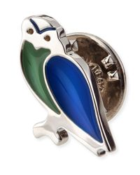 Ferragamo - Metallic Owl Lapel Pin - Lyst
