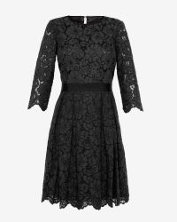 Ted Baker - Black Lace Skater Dress - Lyst