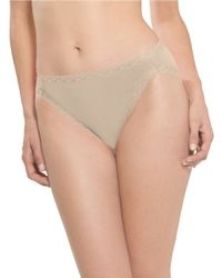 Natori | Brown Bliss Cotton French Cut Panty | Lyst