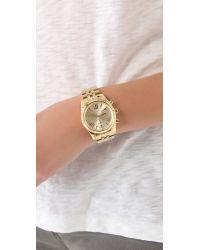 Michael Kors - Metallic Lexington Watch - Gold - Lyst