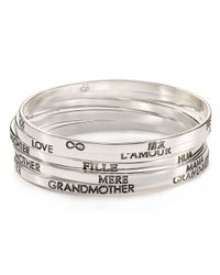 Carolee | Metallic Love 5 Languages Sterling Silver Bangle - Bloomingdale's Exclusive | Lyst