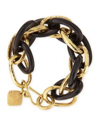 Ashley Pittman - Metallic Ndovu Dark Horn & Bronze Bracelet - Lyst