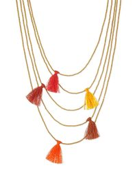 Nakamol | Metallic Multi-strand Beaded Tassel Necklace | Lyst