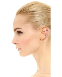 DANNIJO | Multicolor Dayna Triple Stone Drop Earrings | Lyst