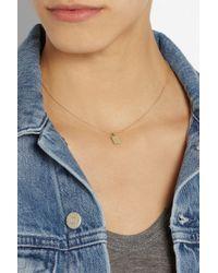 Scosha - Metallic 10-Karat Gold Tag Necklace - Lyst