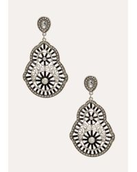 Bebe | Metallic Filigree & Crystal Earrings | Lyst