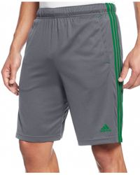 Adidas | Gray Big And Tall Climalite Essential Shorts for Men | Lyst